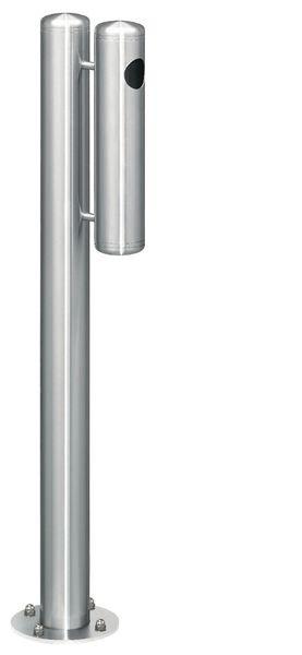 Paalvormige asbak met capaciteit van 500 peuken