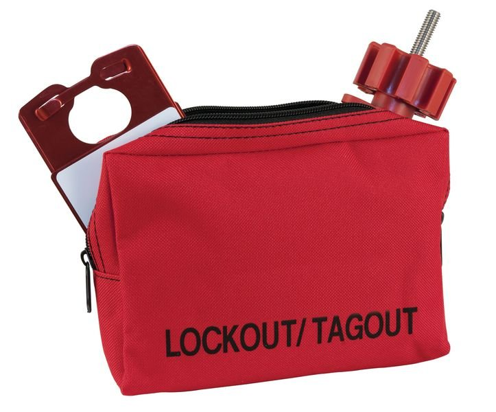 Rode opbergtas voor lockout / tagout - Seton