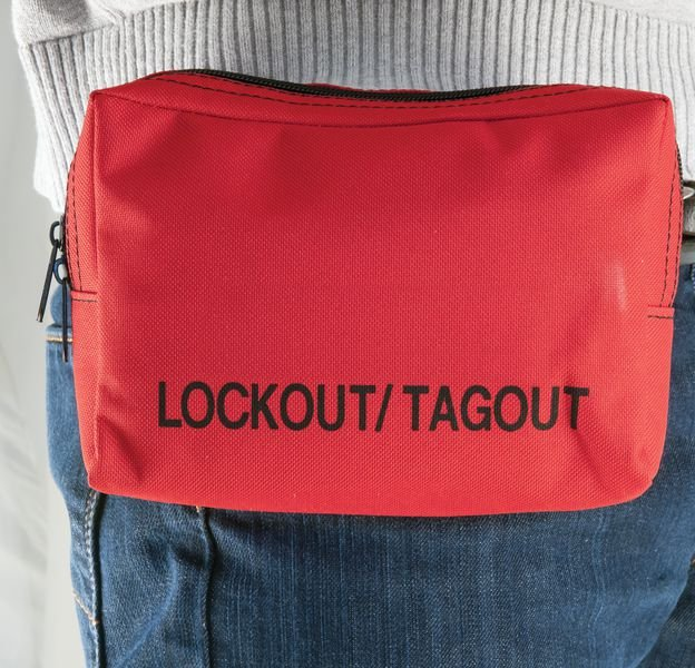 Rode opbergtas voor lockout / tagout - Opbergtassen voor lockout
