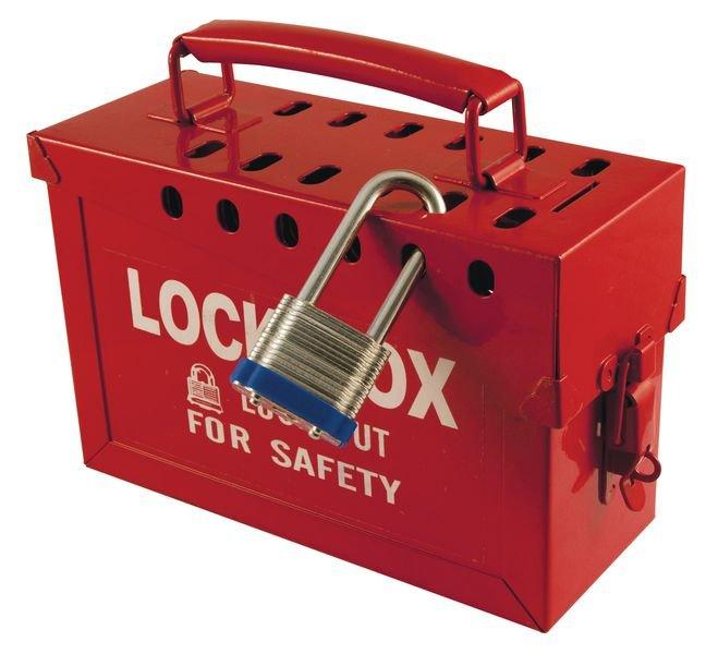 Draagbare lock box met plaats voor 12 hangsloten - Draagbare lockoutboxen