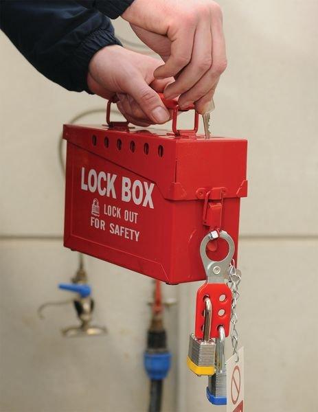 Draagbare lock box met plaats voor 12 hangsloten - Grouplockout-boxen