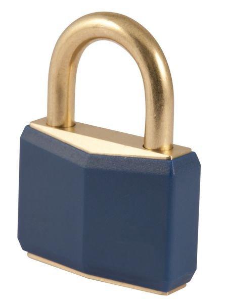 Gekleurd ABUS hangslot van massief messing - Toegangscontrole en beveiliging