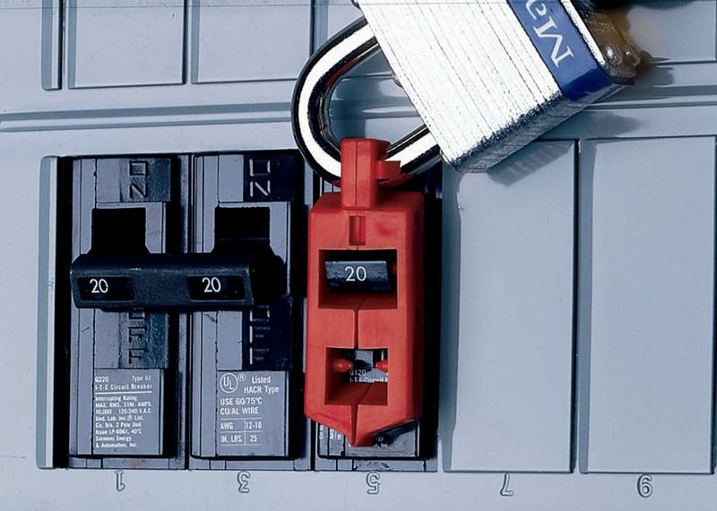 Vergrendelingssysteem voor lockout enkelpolige schakelaar - Seton