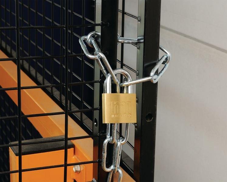 Stalen kettingslot met hangslot voor machine-veiligheidshek - Seton