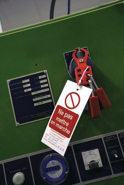 Voordelige hangslotbeugel van geverfd staal - Metalen hangslotbeugels voor lockout