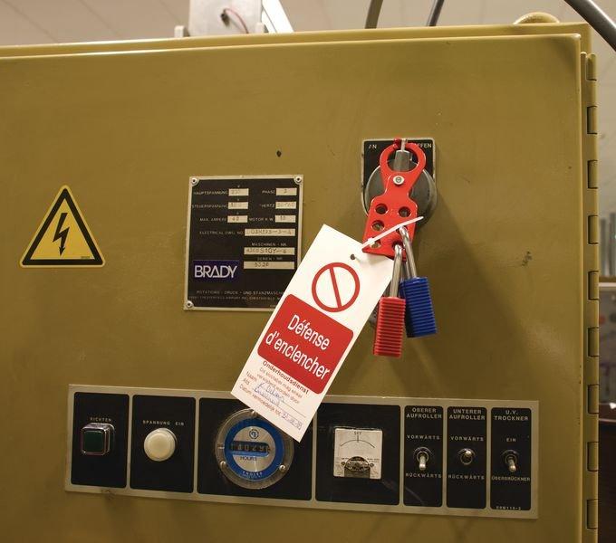 Voordelige hangslotbeugel van geverfd staal - Hangslotbeugels voor lockout