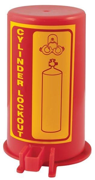 Vergrendelingssysteem cilinder voor lockout gasflessen