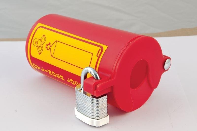 Vergrendelingssysteem cilinder voor lockout gasflessen - Pneumatische vergrendeling