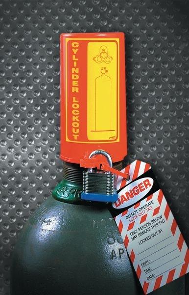 Vergrendelingssysteem cilinder voor lockout gasflessen - Lockout / Tagout