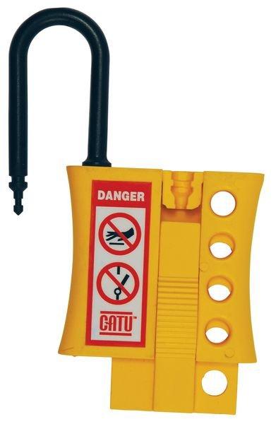 Isolerende hangslotbeugel in de vorm van een hangslot - Niet-geleidende hangslotbeugels voor lockout