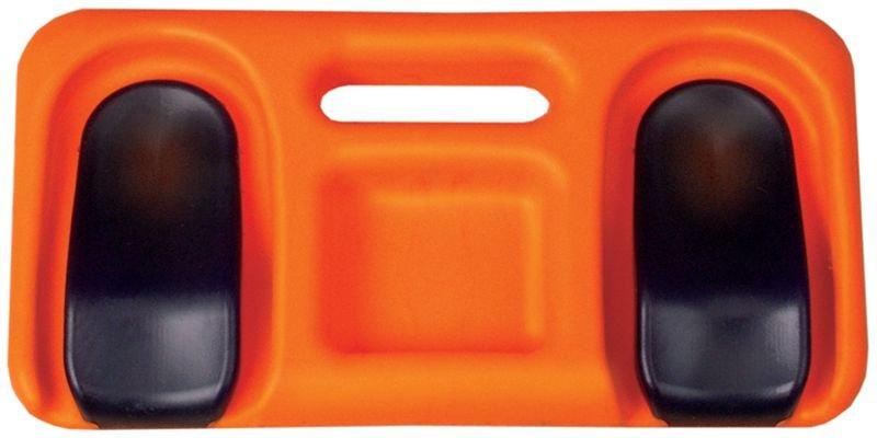 Oranje kniekussen voor werk