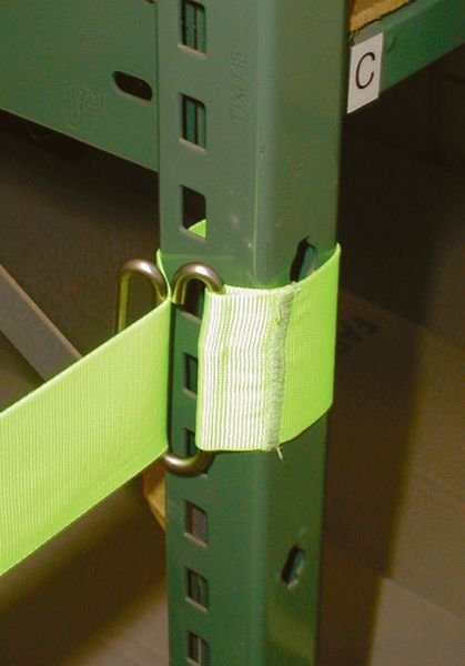 Haspel met fluogeel, uittrekbaar afzetlint - Afzetpalen en -linten voor bureau