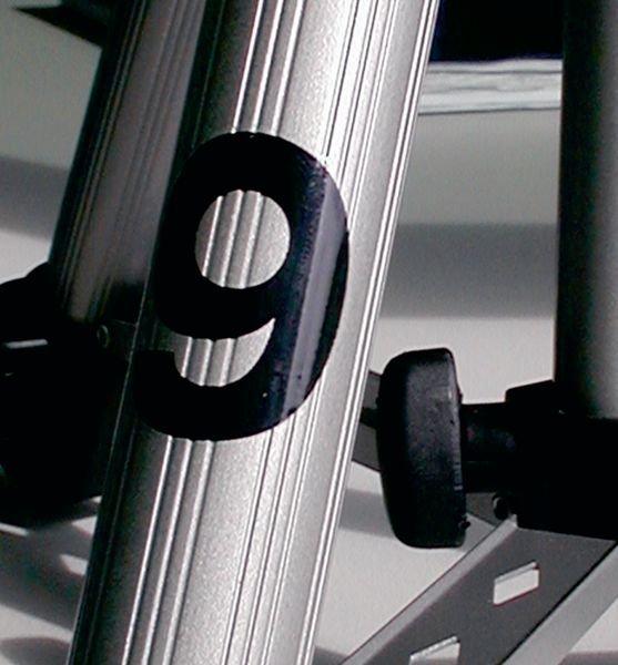 Kit met 10 rub-on cijfers, 0 t.e.m. 9 - Zelfklevende letters en cijfers voor magazijn