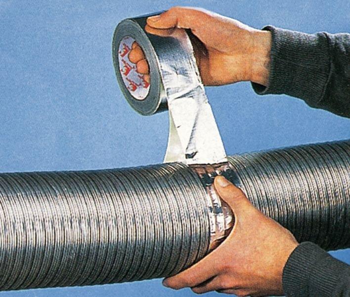 Aluminium tape op rol voor daken en ventilatiekanalen - Seton
