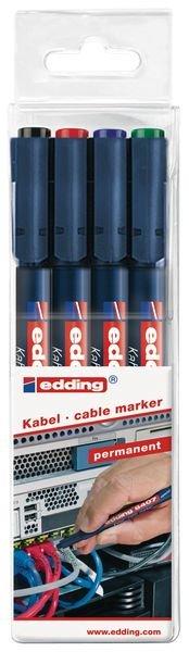 Permanent marker Edding 8407 voor kabels - 0.3 mm