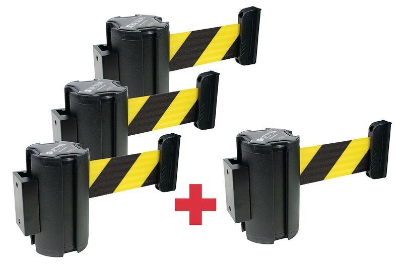 Promopack 3 + 1 haspels met uittrekbaar afzetlint