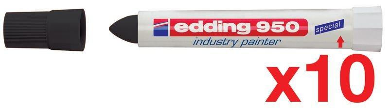 Promopack 8 + 2 stiften industrieel vetkrijt Edding 950