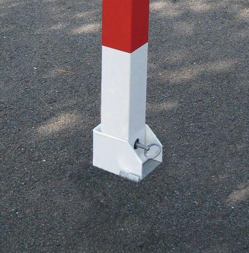 Slagboom in rood en wit voor bevestiging met koker - Seton