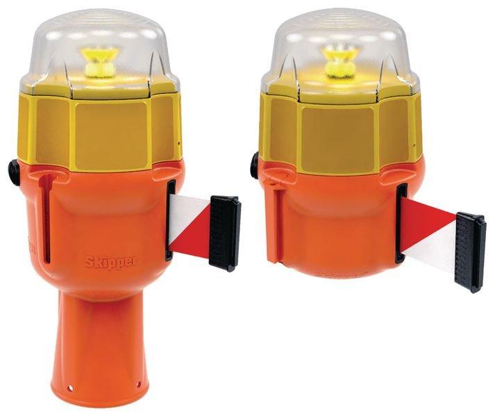 Dagslaper met ledlamp voor Skipper™ afzetlinthouder - Lichtgevende signalering voor werven