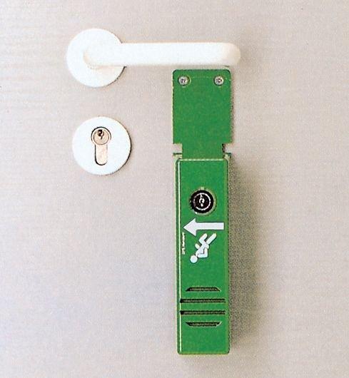 Compact alarm voor deurklink van nooduitgang - Signalering van nooduitgangen