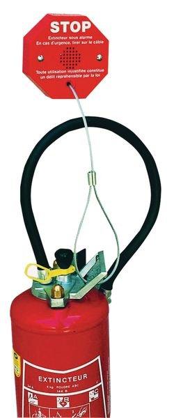 Antidiefstal alarm met kabel voor brandblusser - Seton