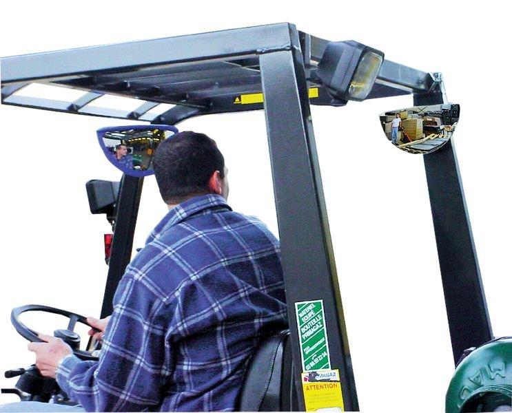 Onbreekbare achteruitkijkspiegel voor heftruck of werkvoertuigen - Veiligheidsspiegels