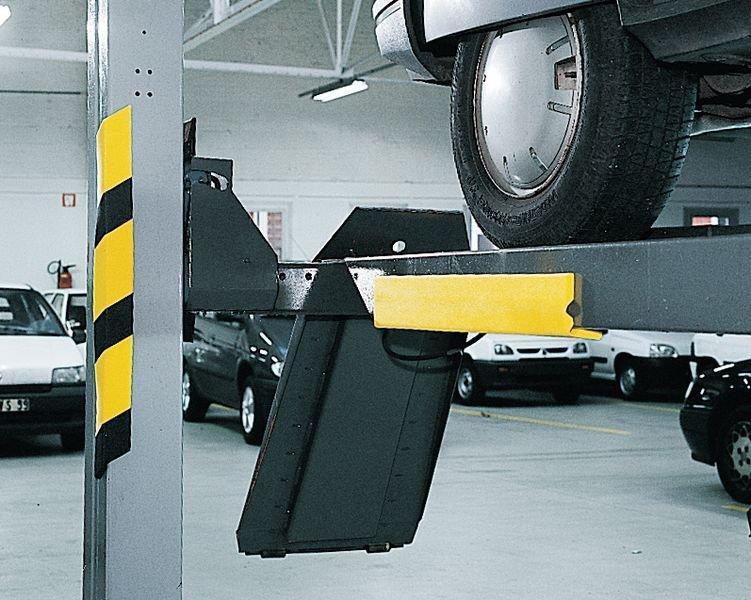 Zwarte en gele stootranden van polyethyleenschuim - Stootranden voor hoeken