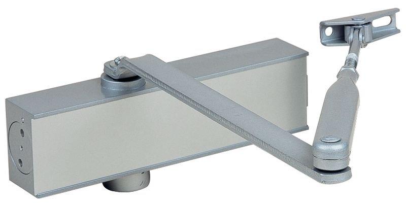 Deurdranger met knik- of glijarm, ook voor brandwerende deuren