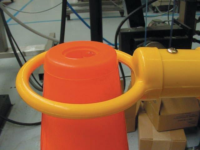 Uitschuifbare steel voor afbakening met signalisatiekegels - Signalisatiekegels en accessoires