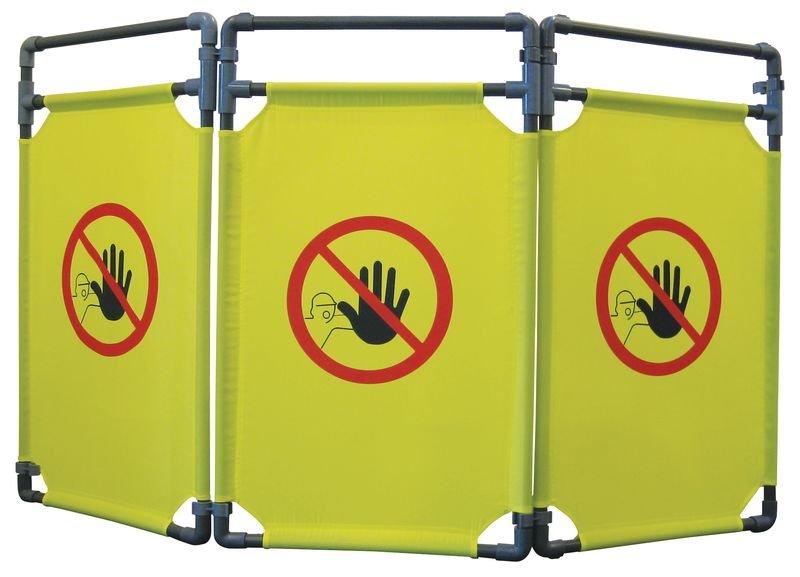 Plooibare scheidingswand verboden toegang voor onbevoegden
