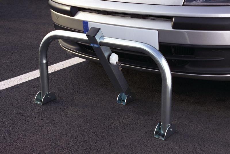 Parkeerbeugel met automatische vergrendeling