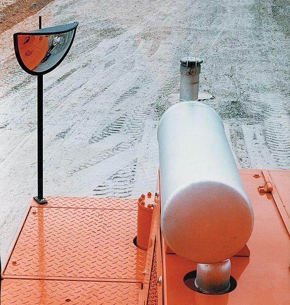 Onvervormbare veiligheidsspiegel voor bouwwerf, 180° zicht - Seton