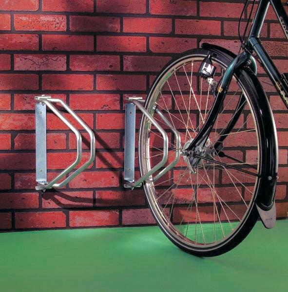 Zwenkbare fietsklem voor muurbevestiging