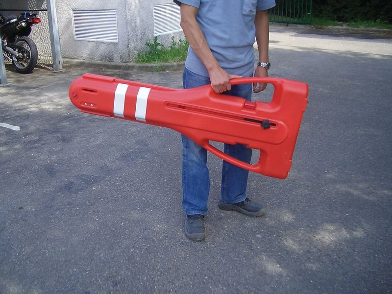 Verzwaarbaar schaarhek met opbergkoffer - Omheining en signalering van de bouwplaats