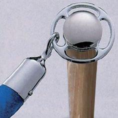 Afzetpalen van hout met ring voor koorden - Afzetpalen met lint