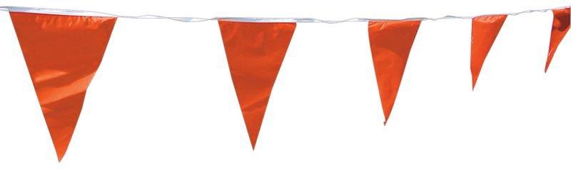 Rode vlaggenlijn voor gevaarssignalering