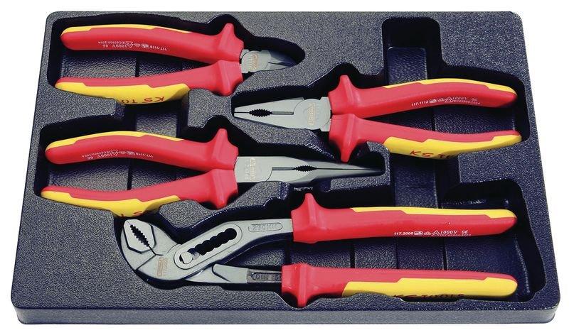 Set met 4 geïsoleerde tangen, 1000 volt