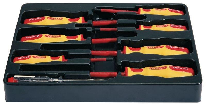 Set met 8 geïsoleerde schroevendraaiers, 1000 volt