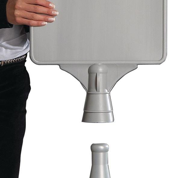 Blanco signalisatiebord met verzwaarbare houder - Seton