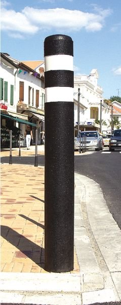 Rubberen straatpaal met retroreflecterende stroken - Seton