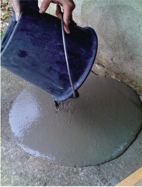 Uitvlakmortel voor vloer reparatie - Grondmarkering: verf, sjablonen, markeernagels