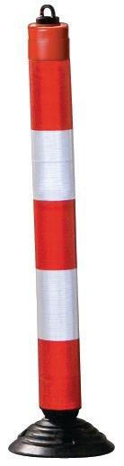 Flexibele rood witte afzetpaal met kettingoog