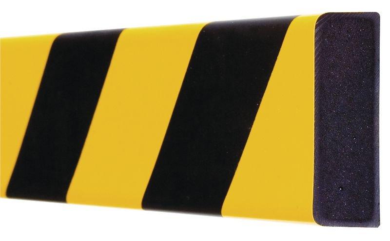 Platte stootrand Optichoc, gearceerd - oppervlak van 60 mm - Stootranden voor muren