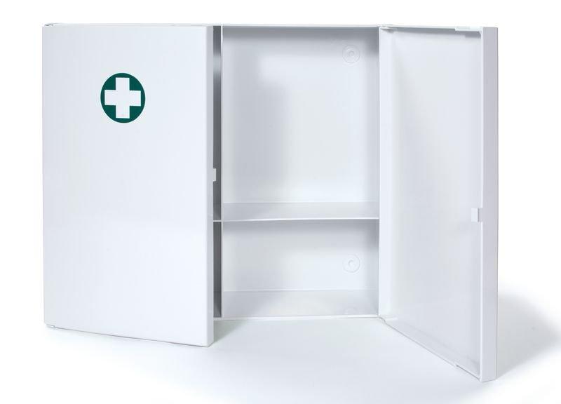 Tweedeurs medicijnkastje van plastic - EHBO Medicijnkasten