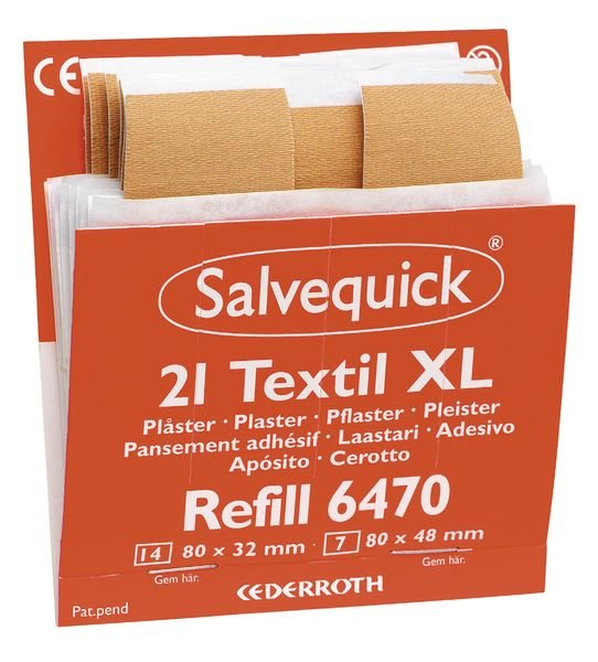 Navulling XL Salvequick® pleisters van textiel