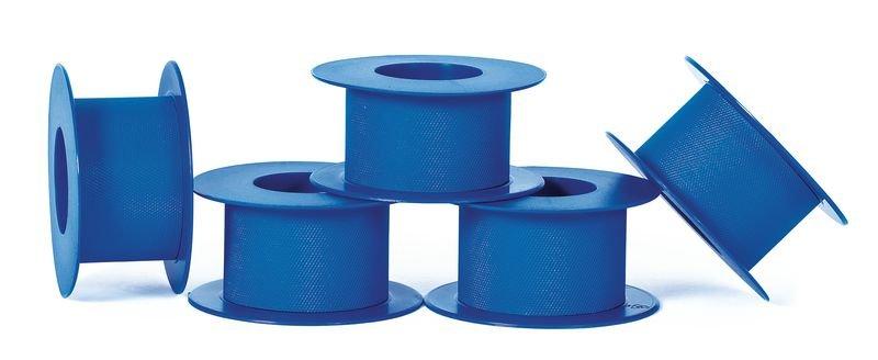 Blauwe hechtpleisters van plastic op rol - Seton