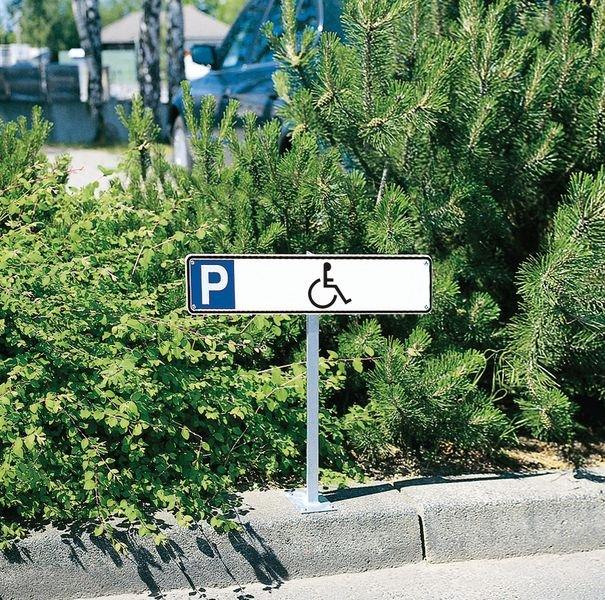 Parkeerborden, type nummerplaat Parkeerplaats gehandicapten - Seton