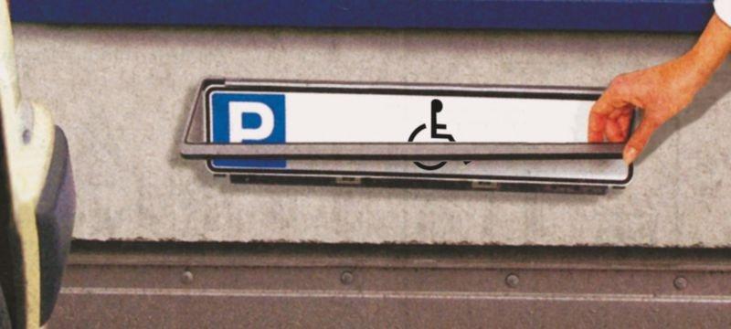 Parkeerborden, type nummerplaat Parkeerplaats gehandicapten - Borden parkeerplaatsen voor gehandicapten