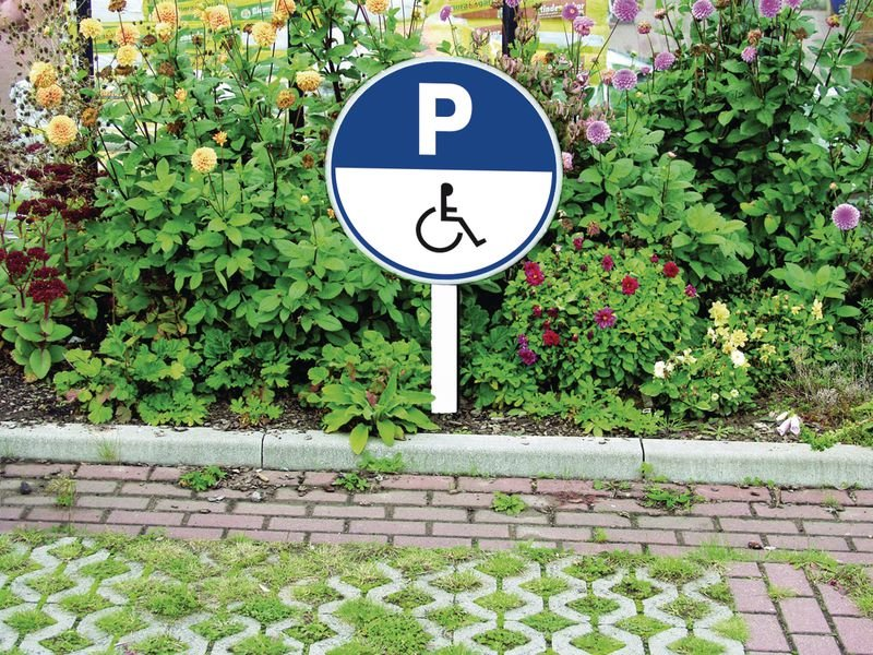 Ronde parkeerborden Parkeerplaats gehandicapten - Seton