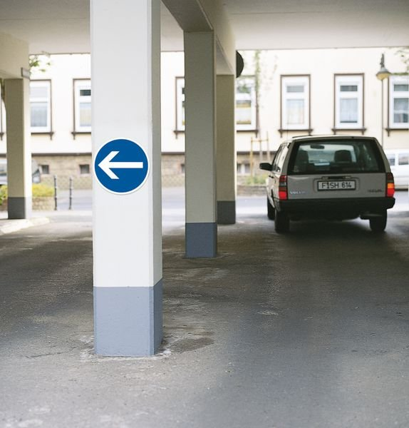 Verkeersbord van PVC Verplicht linksaf - Seton